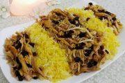 طرز تهیه کشمش پلو با مرغ مجلسی