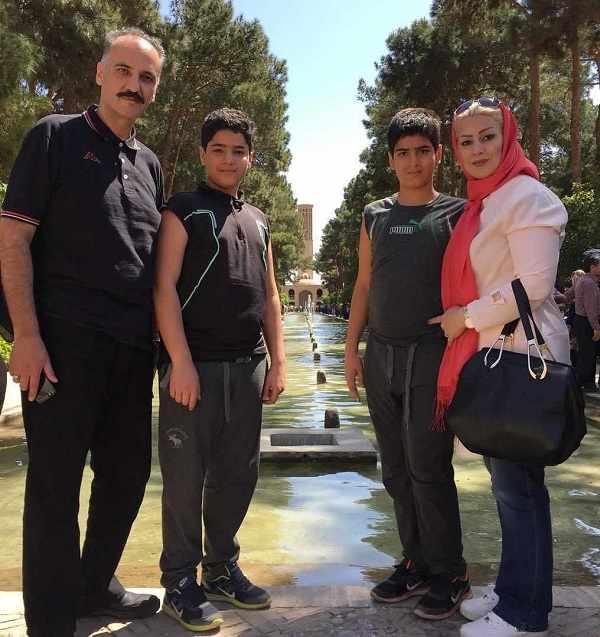 عکس بهاره پاکدل خواهر سمانه پاکدل و خانواده اش