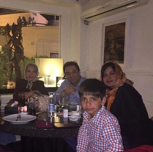 عکس خانواده سیما تیرانداز بازیگر