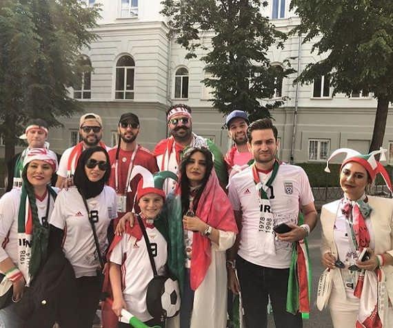 عکس لیندا کیانی در جام جهانی روسیه