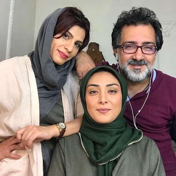 عکس میلیشیا مهدی نژاد در اتاق گریم سریال محکومین