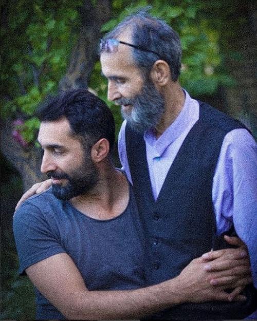 عکس هادی کاظمی و پدرش
