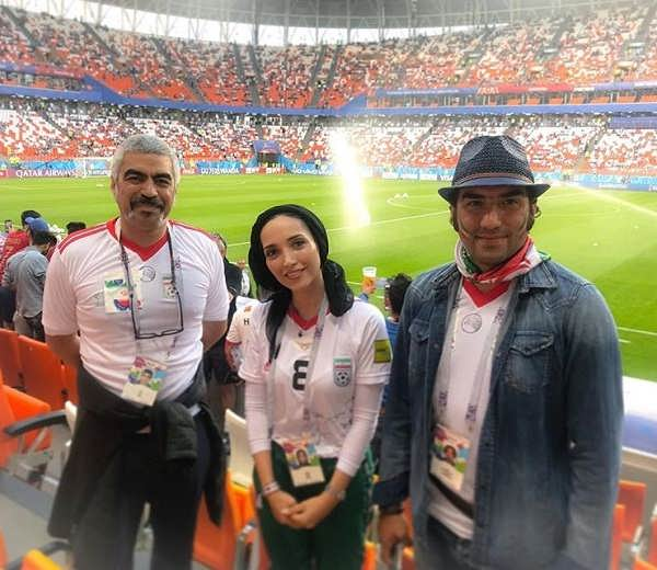 عکس های خاطره اسدی در جام جهانی ۲۰۱۸ روسیه