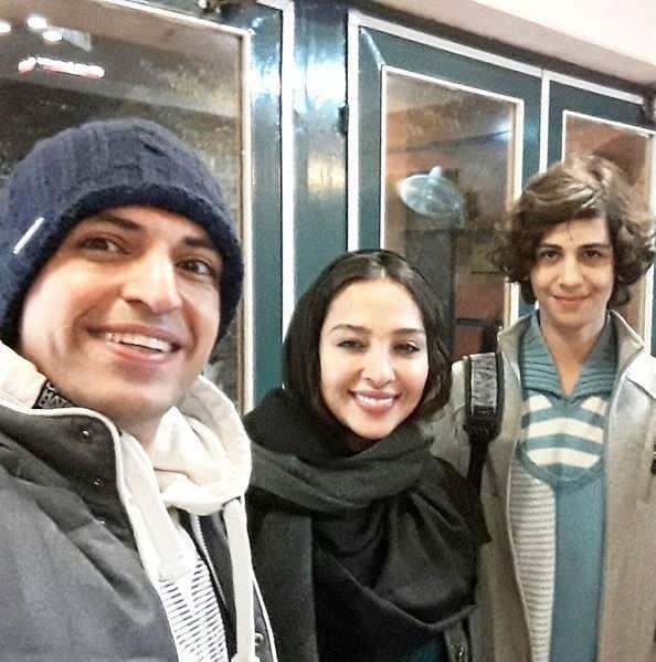 عکس های محمد متین نصیری در کنار اشکان خطیبی و همسرش آناهیتا درگاهی