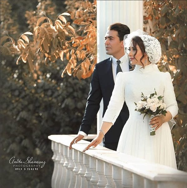 عکس های مراسم عروسی الهام طهموری و همسرش حامد احمدجو