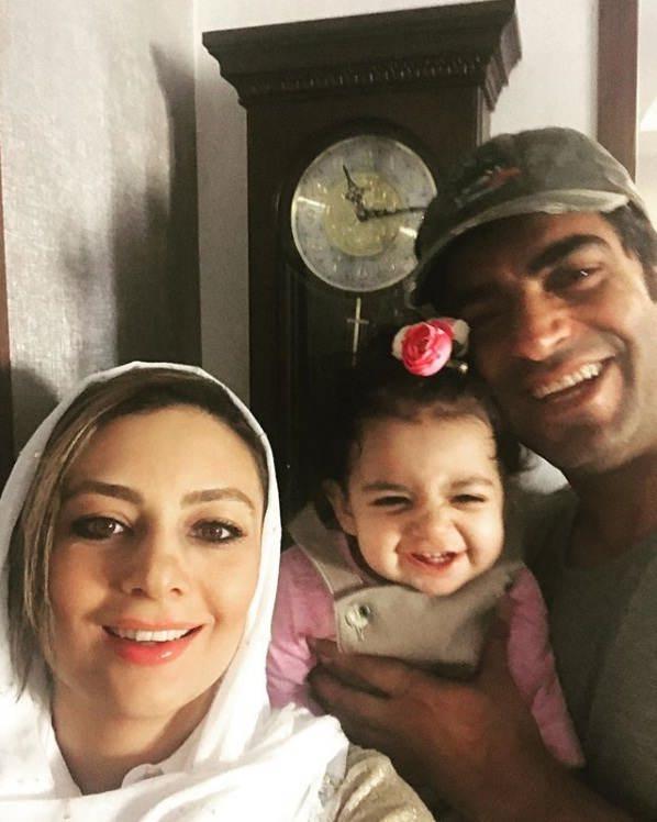 عکس یکتا ناصر و همسرش منوچهر هادی و دخترشان صوفیا