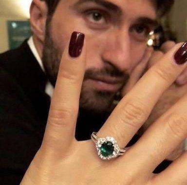 مراسم ازدواج کریم انصاری فرد و الکساندرا صوفیا کالولی