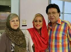 حسین عرفانی و همسرششهلا ناظریان و دخترشان مهسا عرفانی