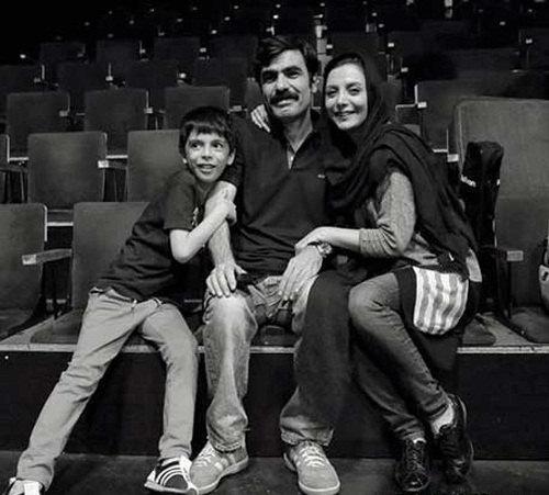 عکس رویا میرعلمی و همسرش و پسرش