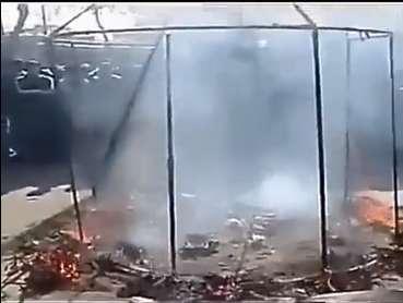 فیلم سوزاندن ۷۲ کبوتر در مراسم سوگواری محرم