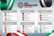 تاریخ و ساعت بازی های ایران در جام ملت های آسیا ۲۰۱۹