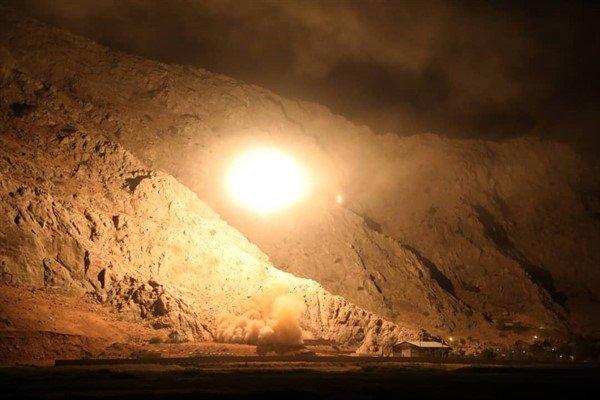 تصاویر حمله سپاه پاسداران به تروریست های شرق فرات