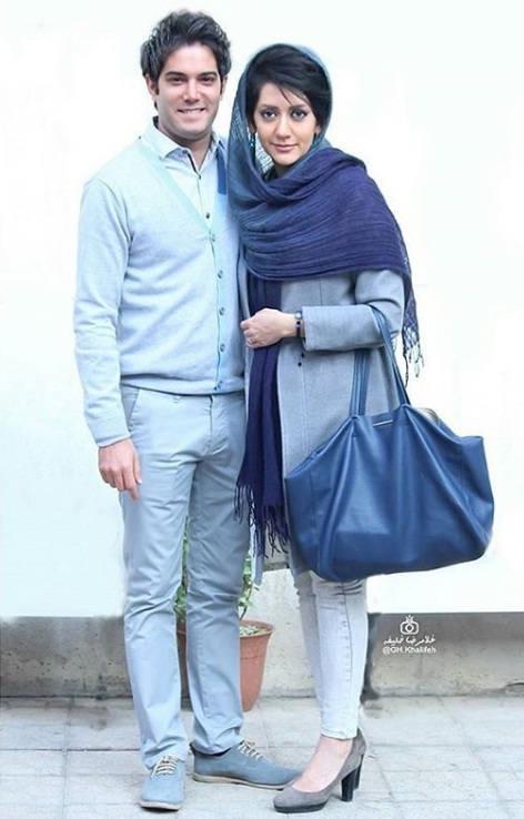 عکس امیرعلی نبویان و همسرش بهار نوروز پور
