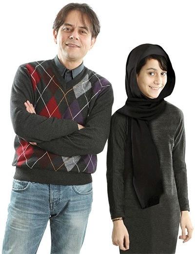 عکس رحیم نوروزی و دخترش پناه