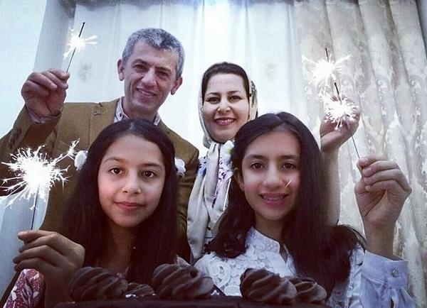 عکس های سیروس همتی و همسر و دخترانشان