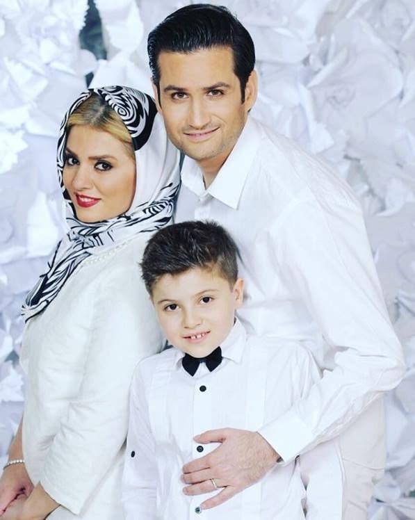 عکس پویا امینی و همسرش و پسرش ایلیا