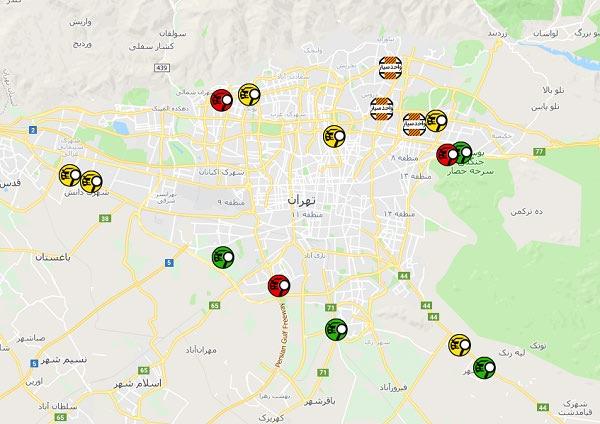 مشاهده وضعیت مراکز معاینه فنی روی نقشه