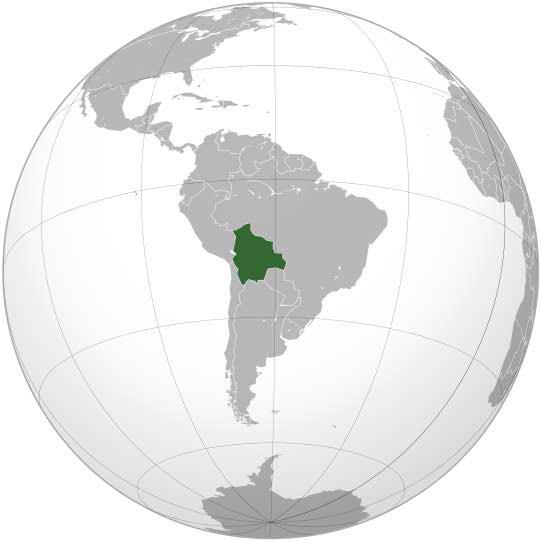 نقشه بولیوی در آمریکای لاتین