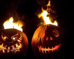 کدو تنبل های آتشین هالووین