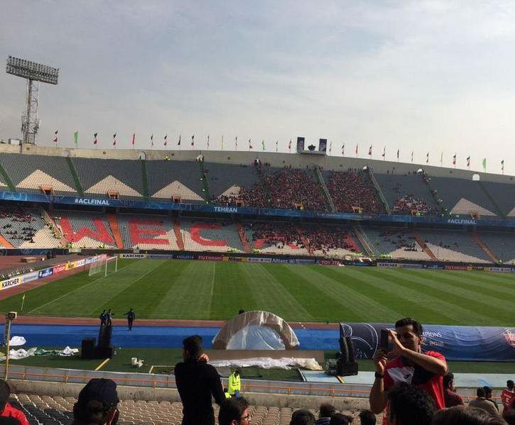 تصویر ورزشگاه ازادی صبح امروز
