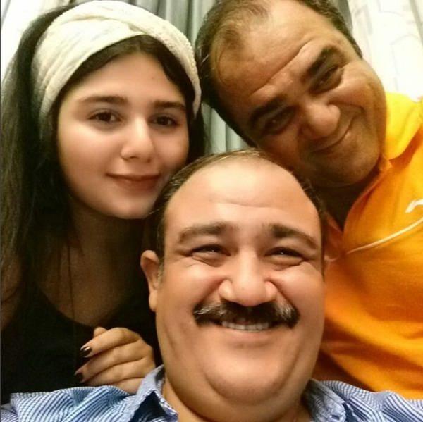 عکس مهدی غفوریان در کنار دخترش تارا و برادرش مهران