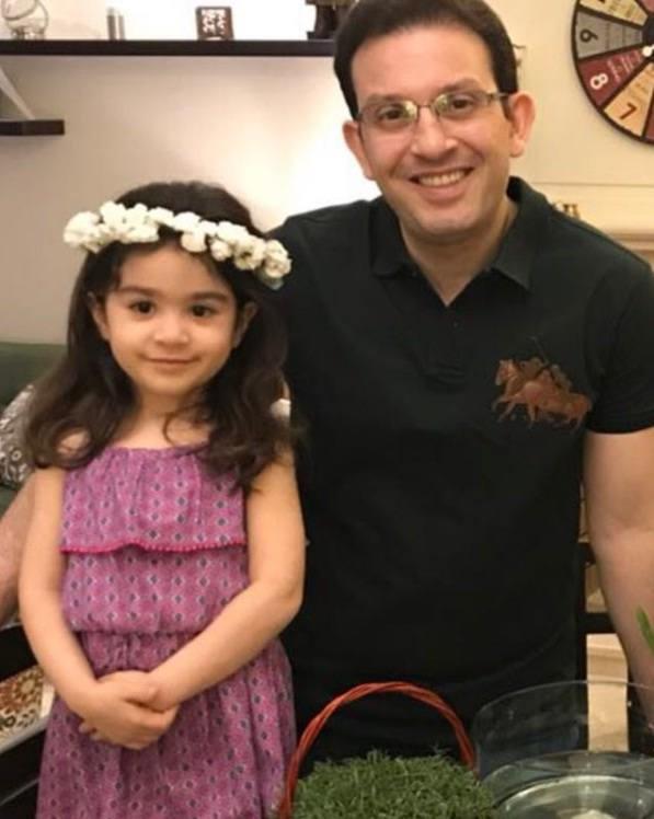 عکس های پیمان اسدیان و دخترش دلسا
