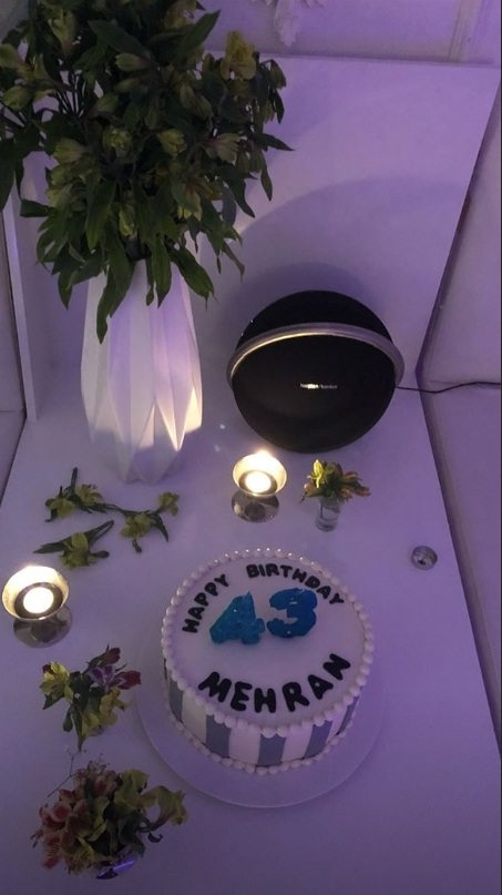 عکس کیک تولد ۴۳ سالگی مهران غفوریان