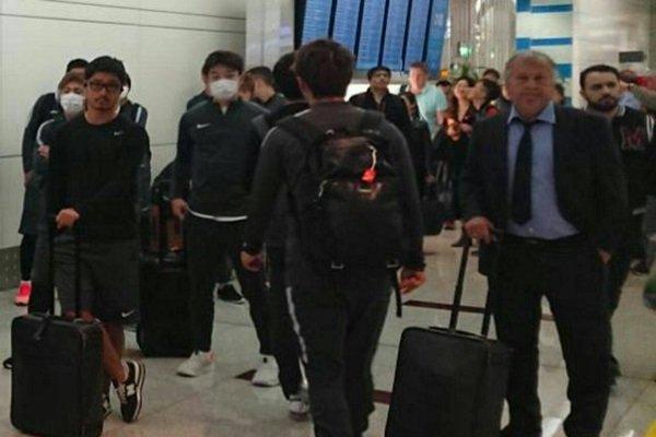 علت ماسک زدن بازیکنان کاشیماانتلرز ژاپن هنگام ورود به ایران