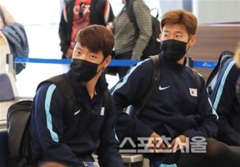 ورود بازیکنان کره جنوبی با ماسک به تهران