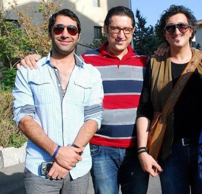 شهاب عباسی در کنار هادی کاظمی و یوسف صیادی