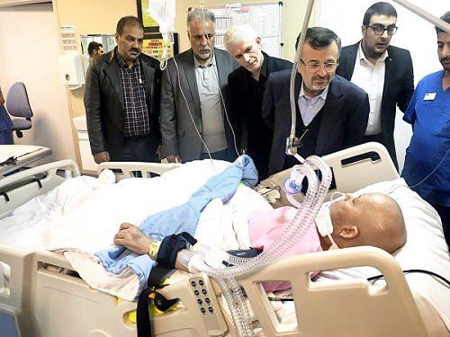 عکس بهزاد کتیرایی رئیس اسبق فدراسیون کاراته در بیمارستان
