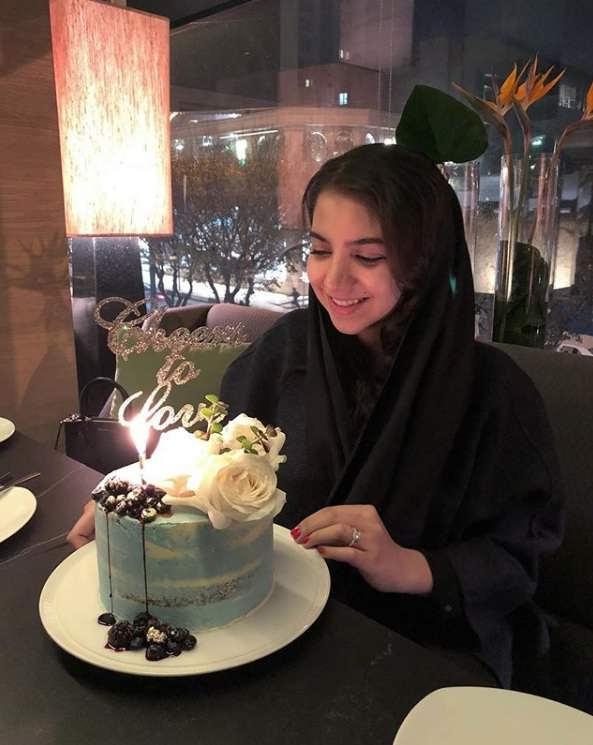 عکس سارا خادم الشریعه در اولین سالگرد ازدواج