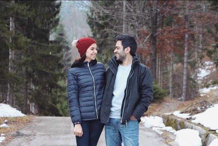 عکس سارا خادم الشریعه و همسرش اردشیر احمدی