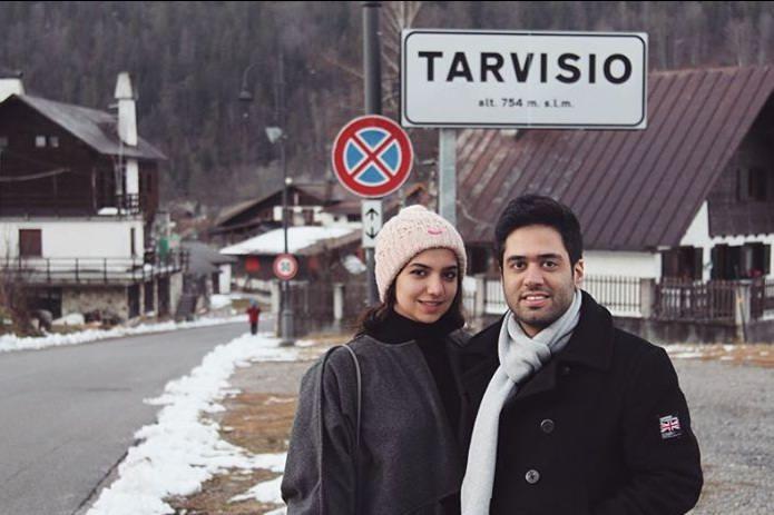 عکس سارا خادم الشریعه و همسرش در مسابقات جهانی شطرنج در ایتالیا