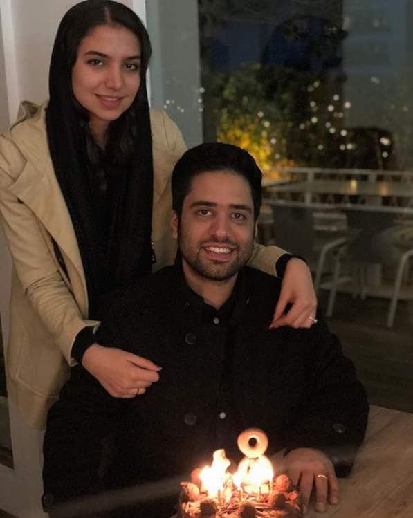 عکس سارا خادم الشریعه و همسرش