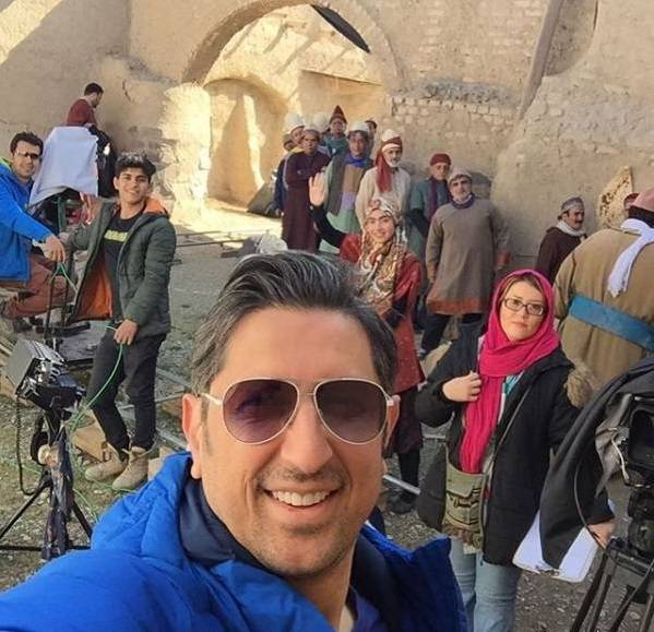 عکس شهاب عباسی در پشت صحنه