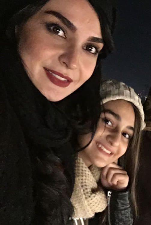عکس مهدیه نساج و دخترش ملینا
