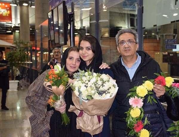 عکس های سارا خادم الشریعه و پدر و مادرش