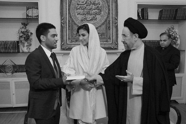 عکس های مراسم عقد سارا خادم الشریعه و همسرش