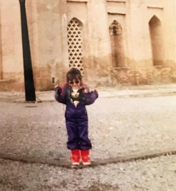 عکس کودکی سایان فرخی
