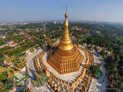 نمایی از پایتخت میانمار