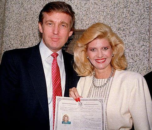 ایوانا ترامپ همسر دوم ترامپ