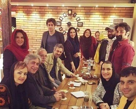 بازیگران در کافه شهره سلطانی
