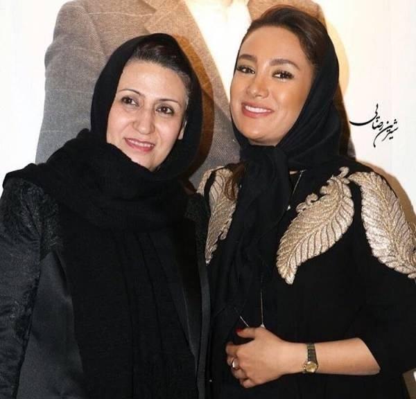 عکس های بهاره افشاری در کنار مادرش