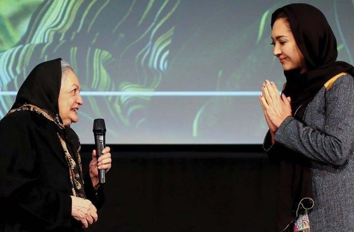 تجلیل نیکی کریمی از شهلا ریاحی به عنوان اولین کارگردان زن ایران