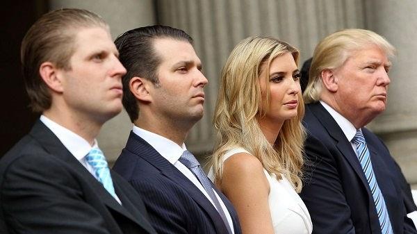 عکس ترامپ و فرزندان او از زن اولش