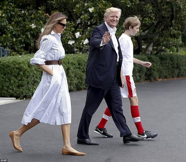 زن سوم ترامپ و پسرش