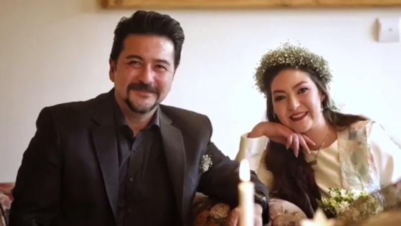 عکس عروسی امیرحسین صدیق و همسرش باران خوش اندام۲