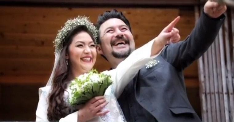 عکس عروسی امیرحسین صدیق و همسرش باران خوش اندام
