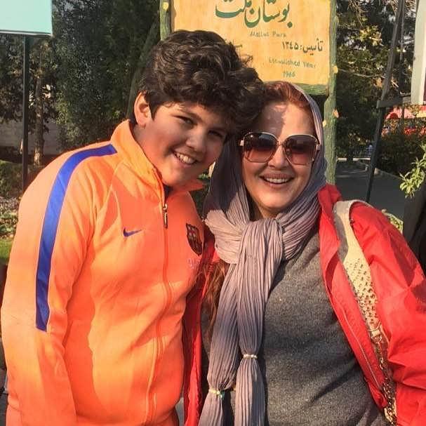 عکس بنیامین محمدیان در کنار بهاره رهنما در بچه مهندس